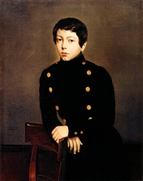 Portrait of Ernest Chasseriau The Painter s Brother in the Uniform of the Ecole Navale in Brest about the Age of 13 1835